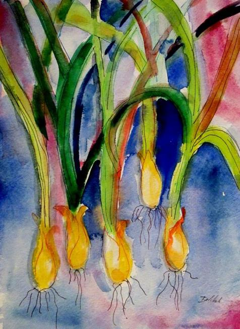 Art: Green Onions by Artist Delilah Smith
