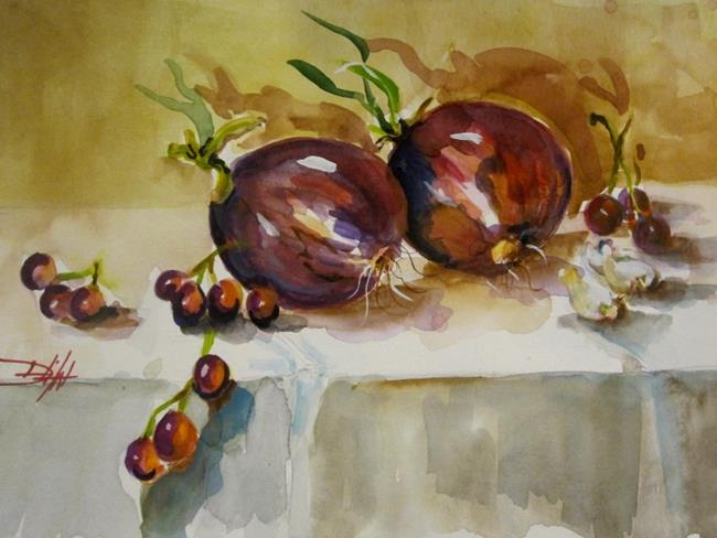 Art: Red Onions by Artist Delilah Smith