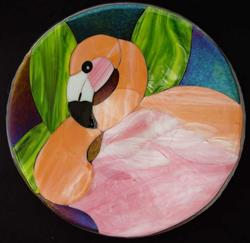 Art: Greater Flamingo by Artist Dawn Lee Thompson