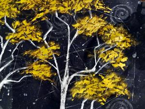 Detail Image for art Birches on Granite Peak
