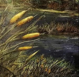 Detail Image for art Cattails of the Northwoods (GIFTED)