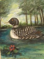 Art: Loon.jpg by Artist Vicky Helms