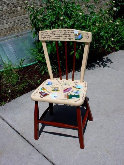 Art: Philosopher on a Cup Chair SOLD by Artist Vicky Helms