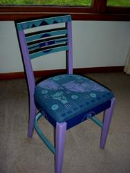 Art: Wood Carving Chair SOLD by Artist Vicky Helms