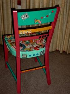 Detail Image for art TIME TO PLAY chair SOLD