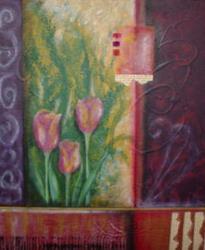 Art: Tulips (SOLD) by Artist Vicky Helms