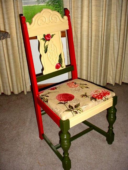 Art: Peony Chair SOLD by Artist Vicky Helms