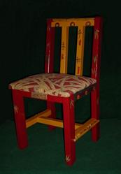 Art: Bamboo Chair by Artist Vicky Helms