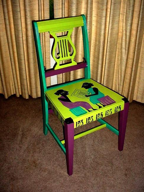 Art: The Lyre SOLD by Artist Vicky Helms