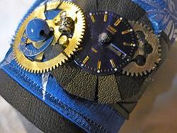 Art: Blue Cuff by Artist Vicky Helms