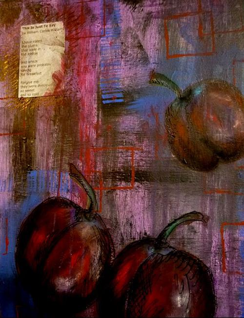 Art: Plums by Artist Vicky Helms