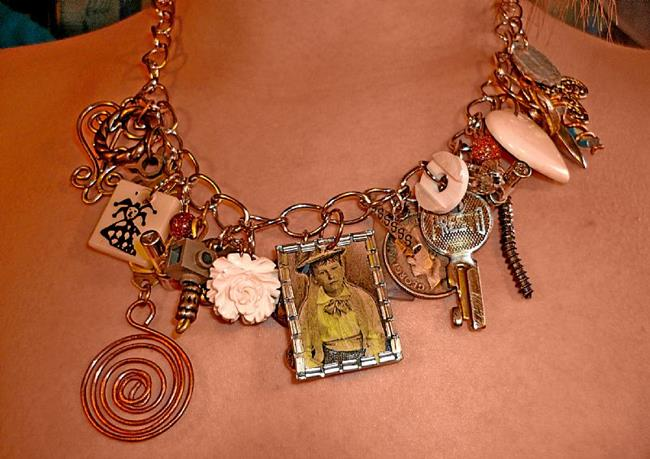 Art: HODGE PODGE NECKLACE (SOLD) by Artist Vicky Helms