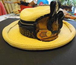 Art: ZIPPER HAT by Artist Vicky Helms