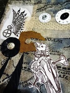 Detail Image for art Steampunk Purse 5   front side