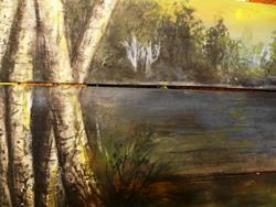 Art: birch paddle by Artist Vicky Helms