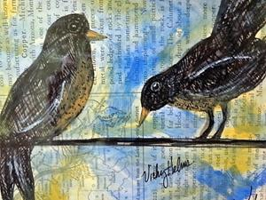 Detail Image for art Two Birds on Wire