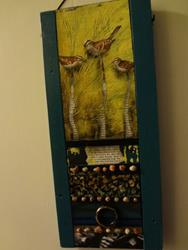 Art: (SOLD) Sparrows by Artist Vicky Helms