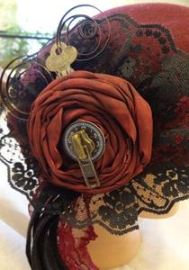 Detail Image for art RED SPIRAL HAT