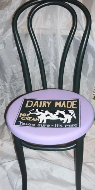 Art: Cow Chair DONATION by Artist Vicky Helms