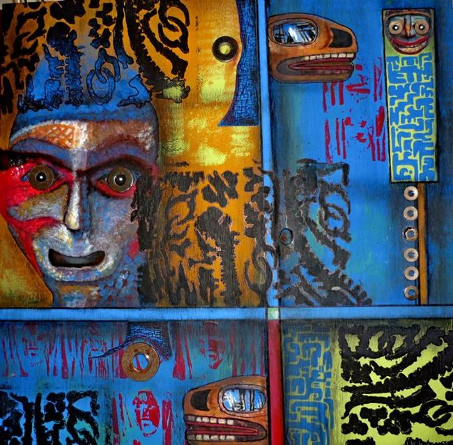 Art: African Influence (SOLD) by Artist Vicky Helms