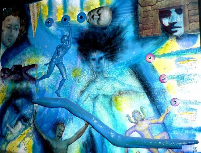 Art: Blue Rising by Artist Vicky Helms