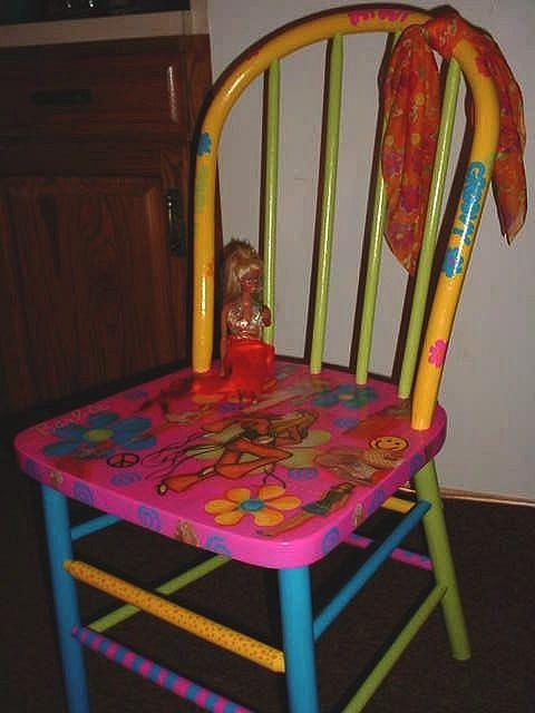 Art: Barbie Chair COMMISSION by Artist Vicky Helms