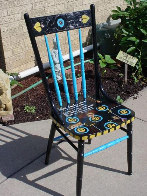 Art: Light Breaks Chair SOLD by Artist Vicky Helms