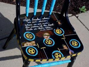 Detail Image for art Light Breaks Chair SOLD