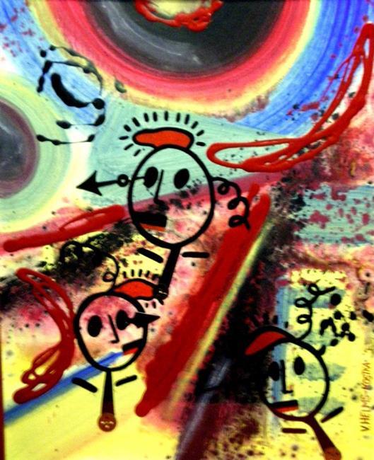 Art: 3 Peeps by Artist Vicky Helms
