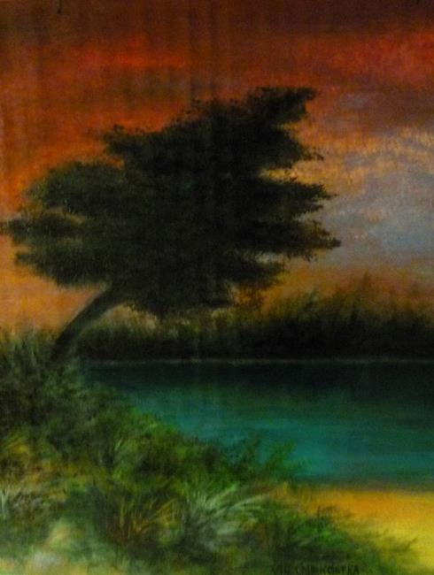 Art: Sunset (GIFTED) by Artist Vicky Helms