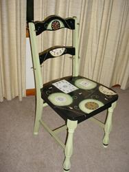 Art: Clock Chair SOLD by Artist Vicky Helms
