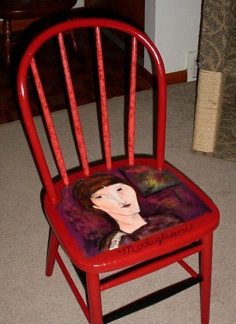 Art: Modigliani Lives! SOLD by Artist Vicky Helms