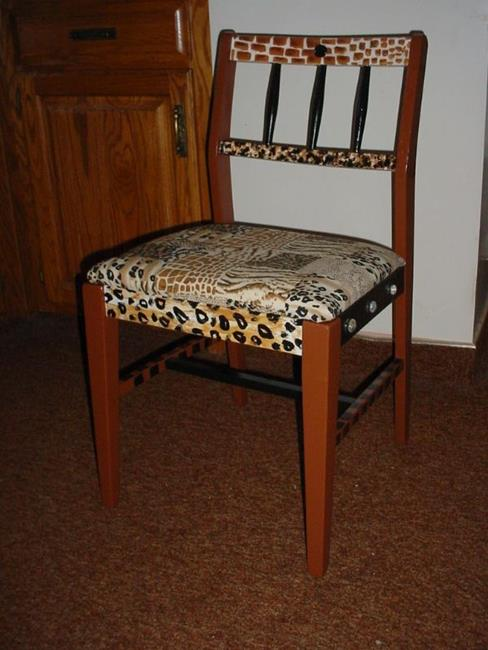 Art: Animal Print Chair SOLD by Artist Vicky Helms