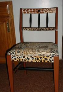 Detail Image for art Animal Print Chair SOLD