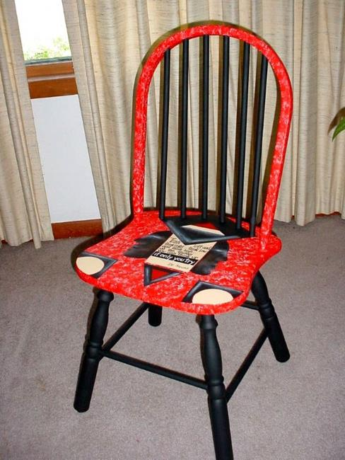 Art: THINK chair SOLD by Artist Vicky Helms