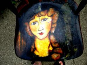 Detail Image for art Modigliani Chair - #3 - set of 3 COMMISSION
