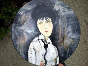 Detail Image for art Modigliani Stool - Woman With Black Tie
