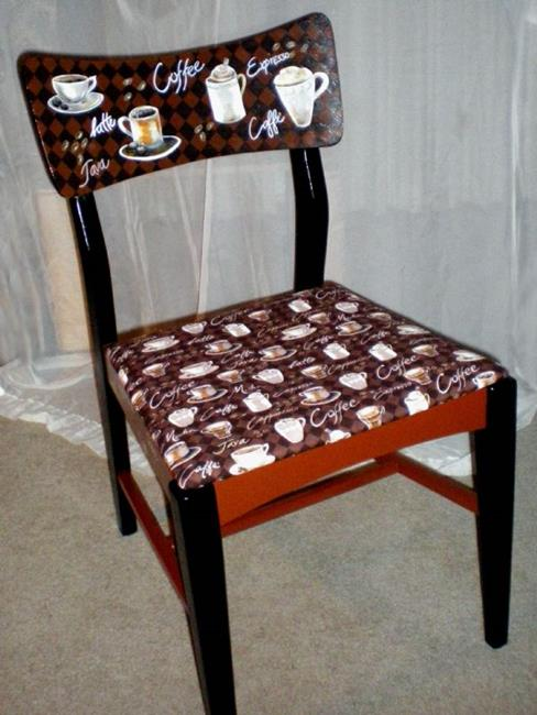 Art: Coffee Chair DONATED by Artist Vicky Helms