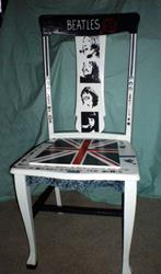 Art: The Beatles Chair SOLD by Artist Vicky Helms