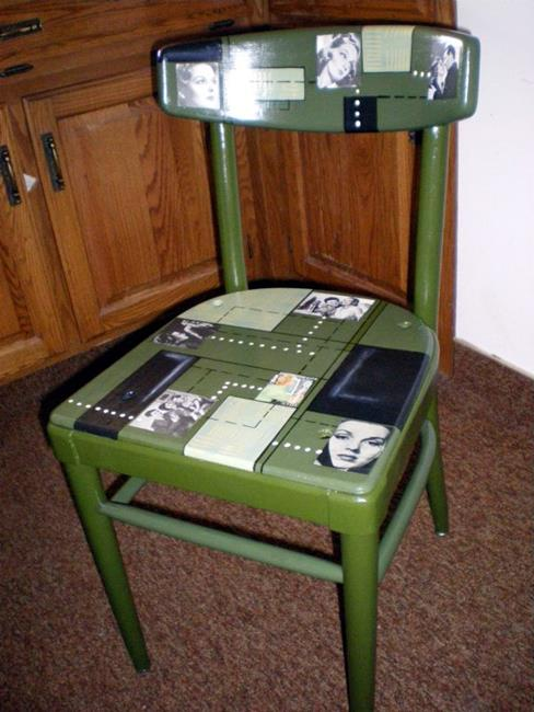 Art: 40s to 50s Chair SOLD by Artist Vicky Helms