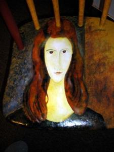 Detail Image for art The Red Haired Girl/Modigliani COMMISSION
