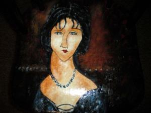 Detail Image for art Dark Haired Girl/Modigliani COMMISSION