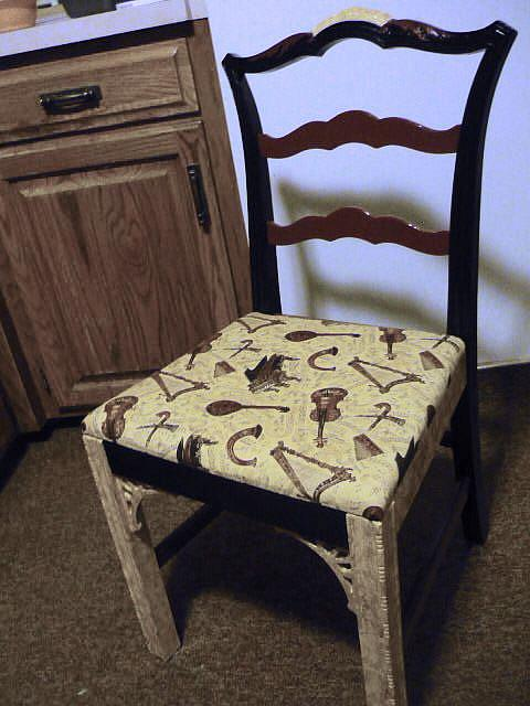 Art: Music Chair SOLD by Artist Vicky Helms