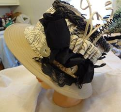 Art: BLACK ROSE HAT by Artist Vicky Helms