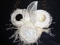 Art: 3 Faces Necklace by Artist Vicky Helms