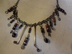 Art: RESISTOR NECKLACE by Artist Vicky Helms