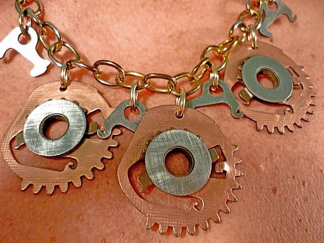 Art: Steam Generator Necklace by Artist Vicky Helms