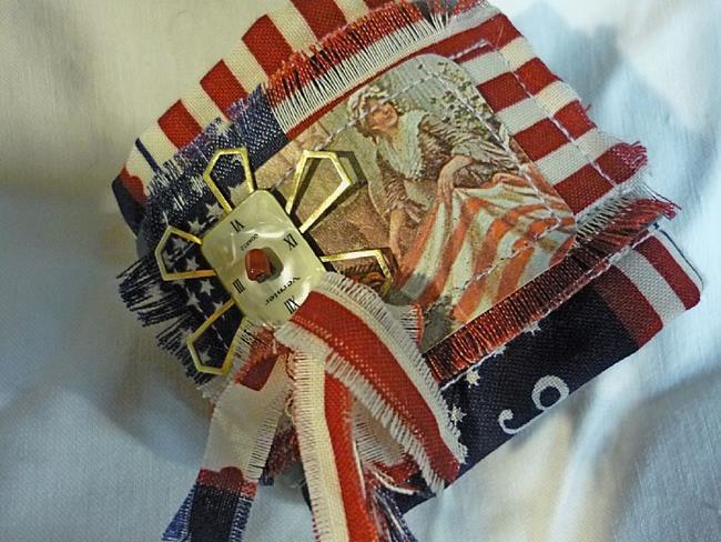 Art: Americana Cuff by Artist Vicky Helms