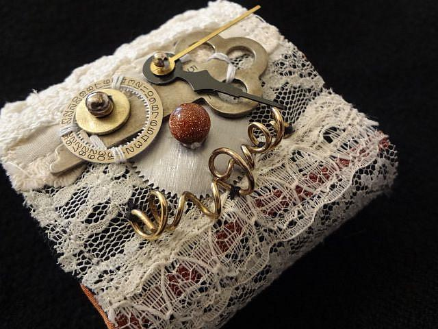 Art: Lace/Copper Cuff by Artist Vicky Helms
