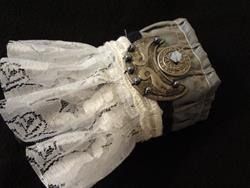 Art: Ruffled Metal Cuff by Artist Vicky Helms